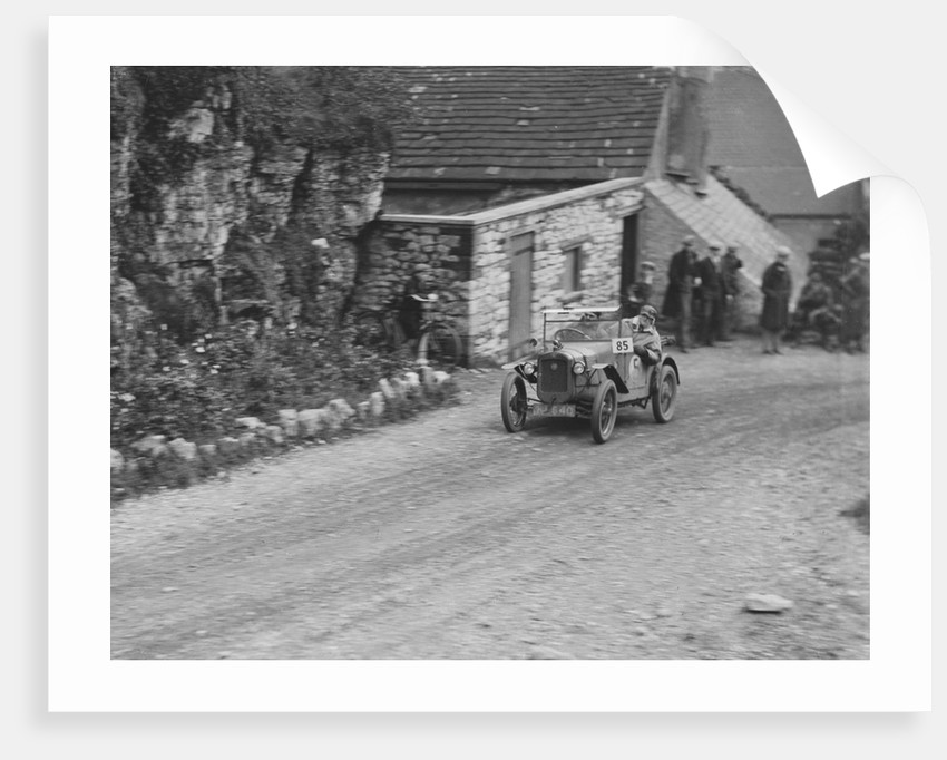 Austin 7 of GHR Chaplin competing in the MCC Sporting Trial, Litton Slack, Derbyshire, 1930 by Bill Brunell