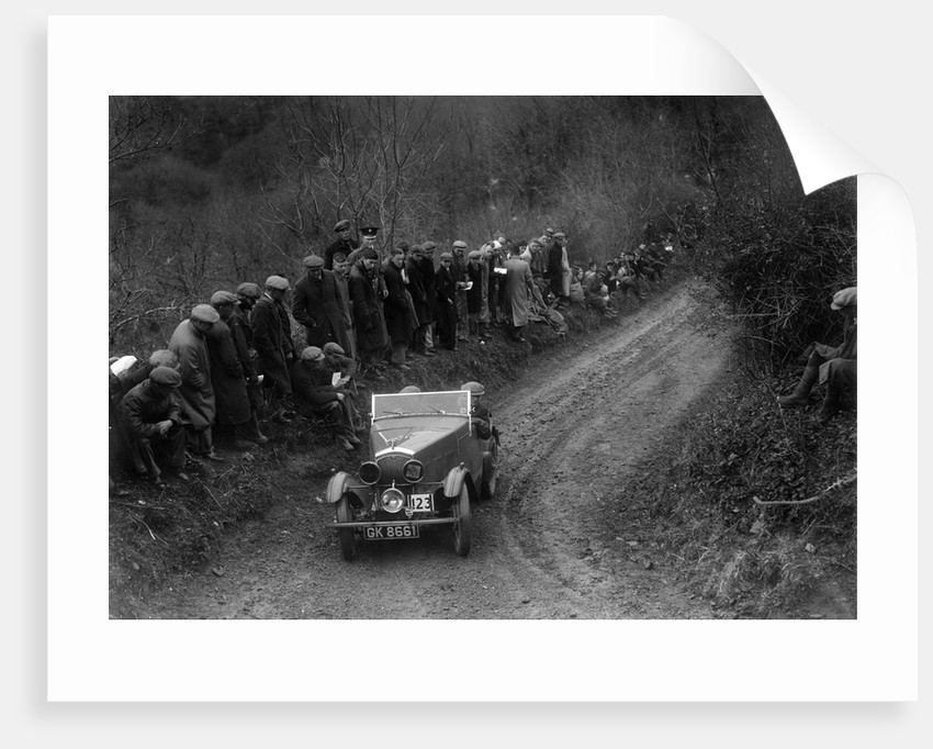 Wolseley Hornet of WR Hancock competing in the MCC Lands End Trial, 1935 by Bill Brunell