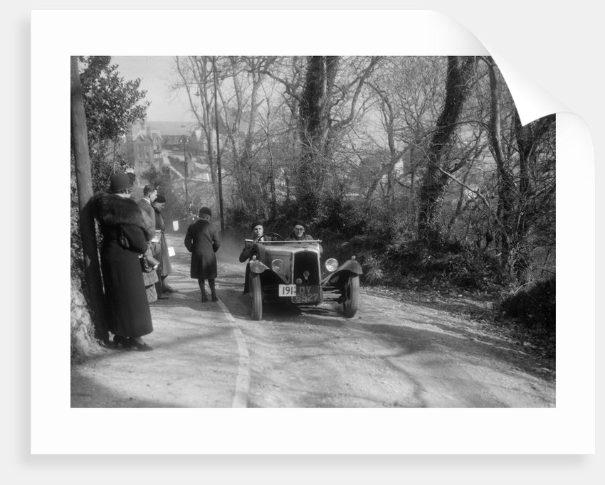BSA 3-wheeler of BRS Leake competing in the MCC Lands End Trial, 1936 by Bill Brunell