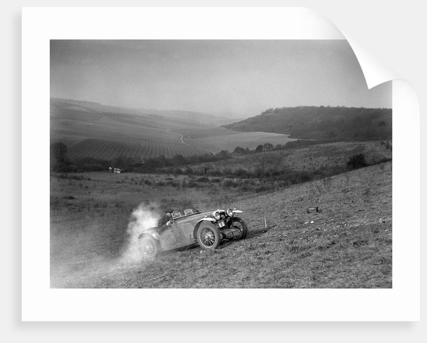 MG J2 competing in the London Motor Club Coventry Cup Trial, Knatts Hill, Kent, 1938 by Bill Brunell