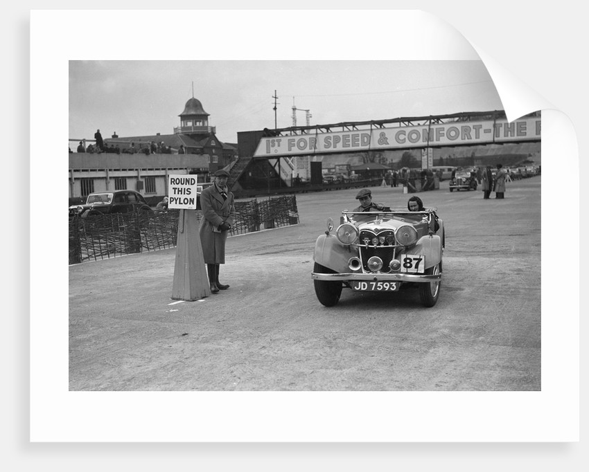 Riley Lynx competing in the JCC Rally, Brooklands, Surrey, 1939 by Bill Brunell
