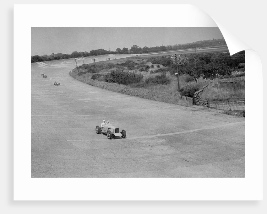 RJ Munday's Munday Special on Byfleet Banking, BARC meeting, Brooklands, Surrey, 1933 by Bill Brunell