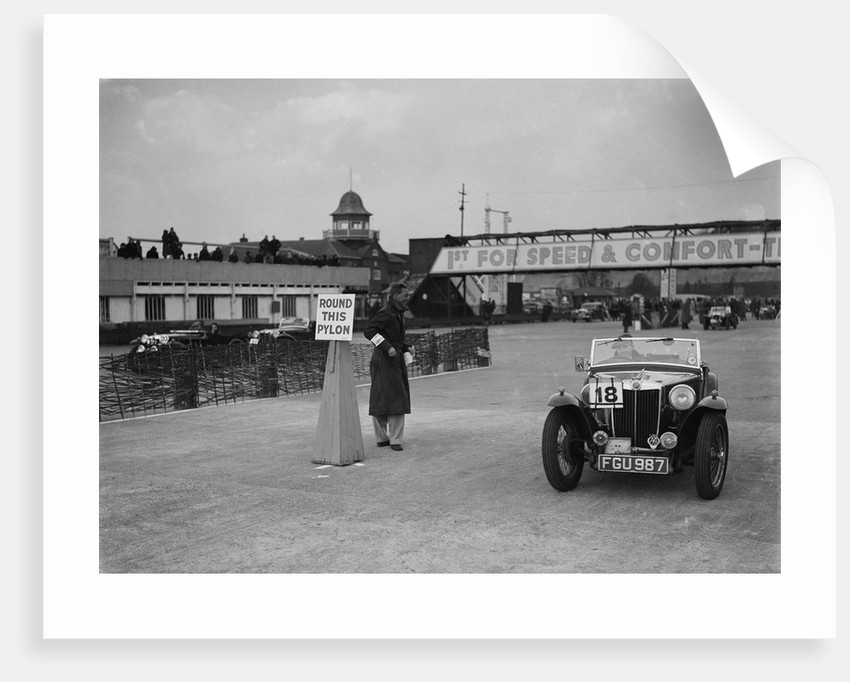 MG TA competing in the JCC Rally, Brooklands, Surrey, 1939 by Bill Brunell