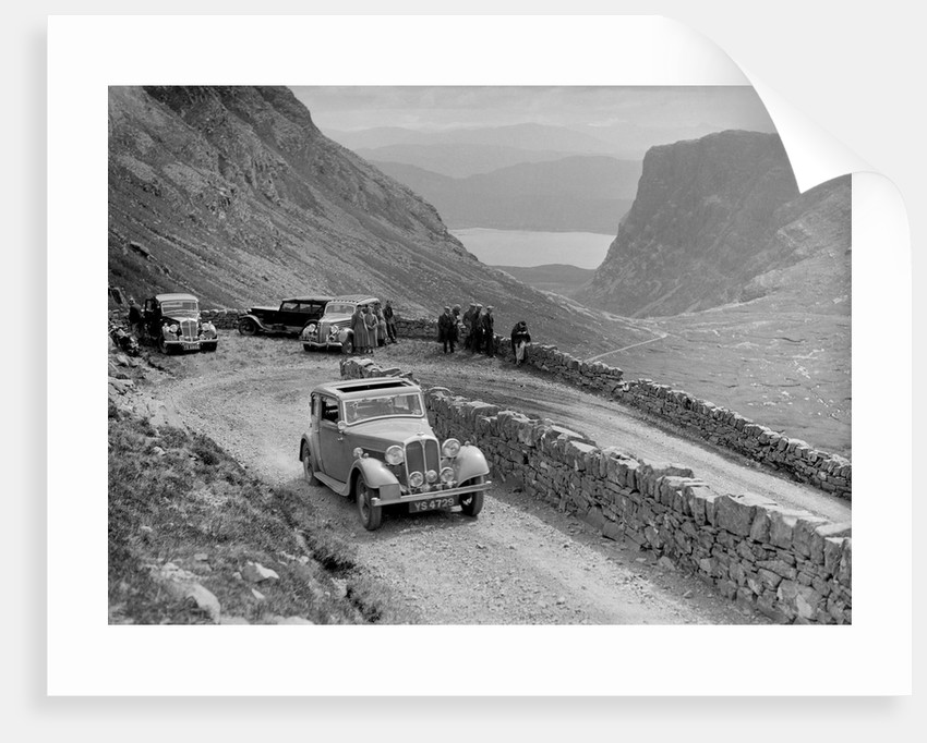 Rover 4-door saloon of IH Mackay competing in the RSAC Scottish Rally, 1936 by Bill Brunell