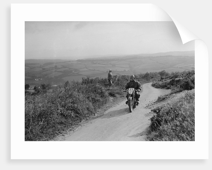 494 cc BMW motorcycle competing in the MCC Torquay Rally, 1938 by Bill Brunell