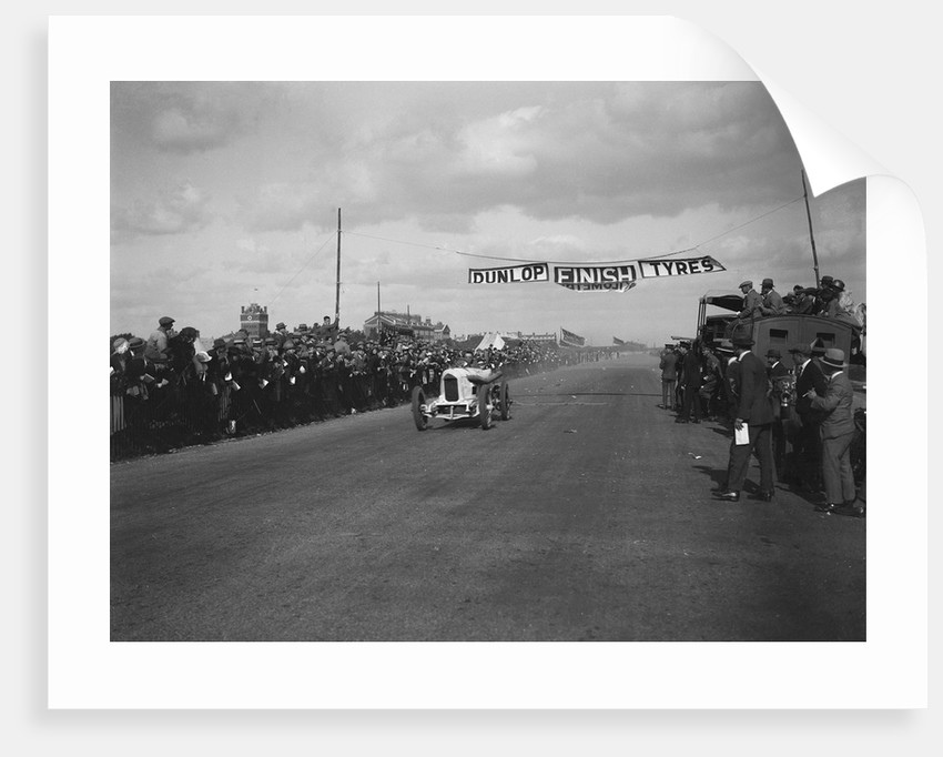 A Barlow's Benz 84hp at the finishing line, Southsea Speed Carnival, Hampshire, 1922 by Bill Brunell