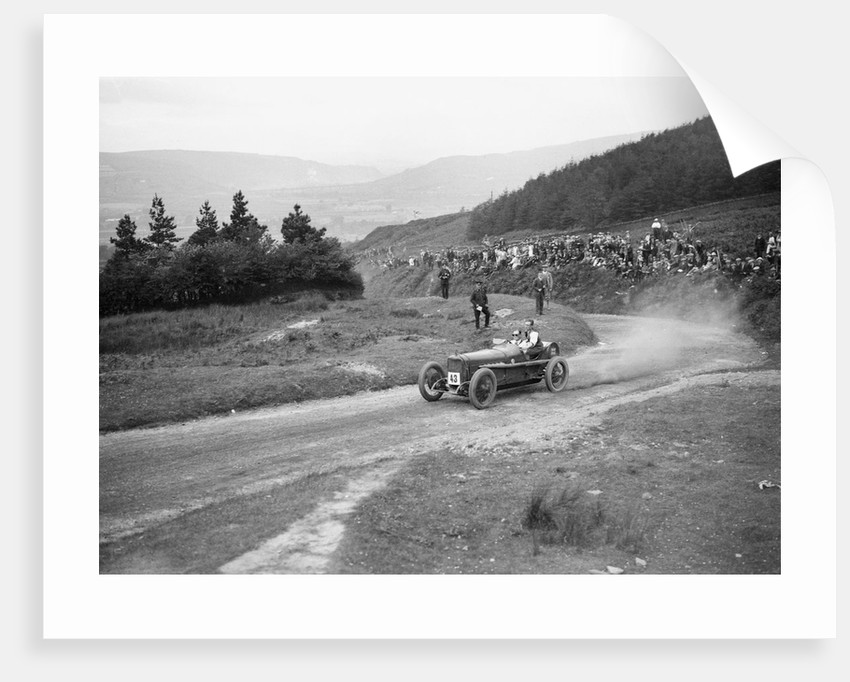 Sunbeam Coppa Florio type of Malcolm Campbell competing in the Caerphilly Hillclimb, Wales, 1923 by Bill Brunell