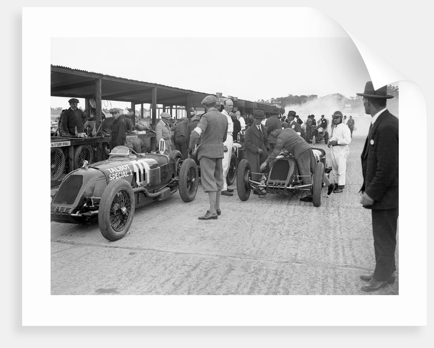 Talbot-Darracqs of Henry Segrave and Jules Moriceau, JCC 200 Mile Race, Brooklands, 1926 by Bill Brunell