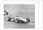 Graham Hill in a Lotus 49 by Maxwell Boyd