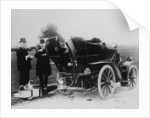 Men having tea beside a 1901 Panhard by Anonymous