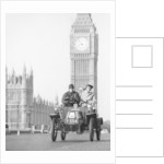 1903 De Dion on the London to Brighton Run with Big Ben behind by Anonymous