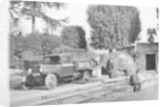 1934 Bedford 30cwt WS truck with an elephant at Bristol Zoo by Anonymous