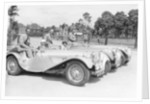 1937 Jaguar SS100 2 1/2 litre team on Welsh rally by Anonymous