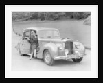Woman in a 1954 Alvis 3 litre TC 21 by Anonymous