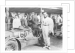 The Earl of March with a C type MG by Anonymous