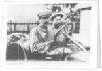Felice Nazzaro behind the wheel of an Itala by Anonymous