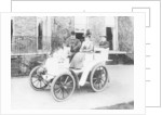 Frank Butler and daughter on a 6hp Panhard by Anonymous