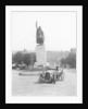 Bentley 3 litre by King Alfred statue in Winchester by Anonymous