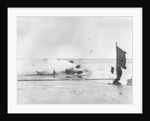 Giulio Foresti's crash at Pendine Sands by Anonymous