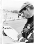 Ken Tyrrell noting down times by Anonymous
