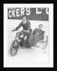 Tudor and Thompson riding a motorcycle and sidecar by Unknown