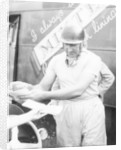 Ken Wharton signing autographs by Unknown