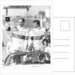 John Watson and Jan Lammers waving at the crowds at Jarama by Anonymous
