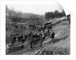 Brooklands motor racing circuit under construction by Anonymous