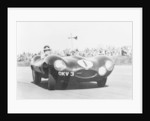 Mike Hawthorn driving a D Type Jaguar by Anonymous