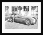Fangio in Alfa Romeo, prior to the San Remo Grand Prix by Anonymous