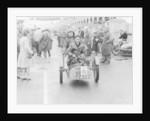 Sammy Davis with 1897 Leon Bollee tricar 'Beelzebub' by Anonymous