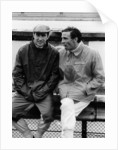 Jackie Stewart on the left, and Jim Clark by Anonymous