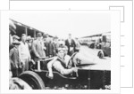 Jack Barclay in a Vauxhall TT car at Brooklands, Surrey by Unknown