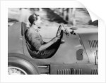 Alberto Ascari at the wheel of a racing car by Unknown