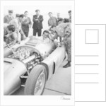 Alberto Ascari at the wheel of the new Lancia Grand Prix car by Anonymous