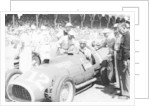 Alberto Ascari at the wheel of a 4.5 litre Ferrari by Anonymous
