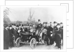 FR Simms at the wheel of a 4hp Cannstatt-Daimler by Anonymous