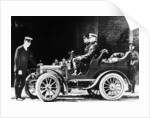 Charles Rolls at the wheel of a 1904 Royce car by Anonymous