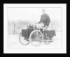 Albert de Dion on a steam tricycle by Anonymous