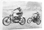 Two motorcyclists taking part in Motocross at Brands Hatch by Anonymous