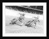 Dick Bradley (on the left) and Alby Golden at a speedway track by Anonymous