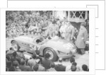G Marzotto in a 4.1 Ferrari, taking part in the Mille Miglia by Anonymous