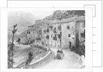 Felice Nazzaro driving through Pettralia Sottana in a Fiat, in the Targa Florio race by Anonymous
