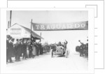 Felice Nazzaro in a Fiat winning the Targo Florio race by Anonymous