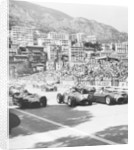 Cars on the starting grid by Anonymous