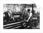 A man operating a jig at the Napier works by Anonymous