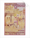 Poster advertising Carmen bicycles by Marodon