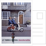 Poster advertising Lambretta scooters by Anonymous