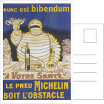 Poster with Mr Bibendum advertising Michelin tyres by Unknown