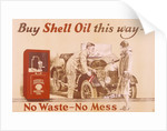 Poster advertising Shell oil, (c1920s?) by Unknown